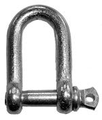 Shackle D - 6mm - Galvanised